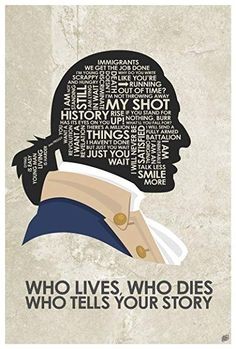 Hamilton 'Who Lives, Who Dies, Who Tells Your Story Giclee Art Print Poster from Typography Drawing by Pop Artist Stephen Poon x Hamilton Poster, Hamilton Fanart, Broadway Posters, Broadway Quotes, Hamilton Wallpaper, Typography Drawing, Hamilton Musical, And Peggy, Poster Prints