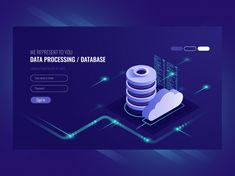 big data flow processing concept cloud database isometric vector web hosting and server room icons ultraviolet Beauty Business Cards, Cool Business Cards, Business Card Design, Isometric Drawing, Isometric Design, Web Design, App Ui Design, Data Icon, Free Printable Business Cards