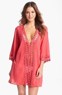 La Blanca Crochet Trim Cover-Up available at #Nordstrom