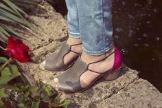 Heel sandals , summer , pink ,  Women shoes Dakota brown coral  Www.michalmiller.com