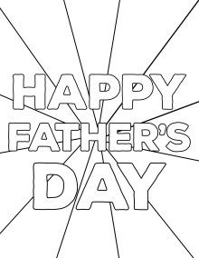 Happy Father S Day Coloring Pages Free Printables Paper Trail Design Fathers Day Coloring Page Father S Day Printable Happy Fathers Day