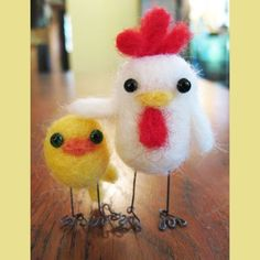 needle felted animals...way too cute.