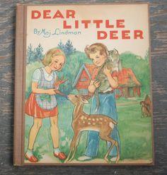 1953 DEAR LITTLE DEER Children's Book Maj Lindman by WUNDERSTUFF, $5.99