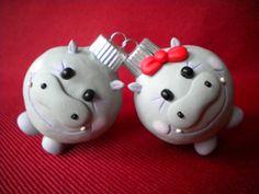 Hippopotamus for Christmas Decoration by Sleepydenas on Etsy, $8.00