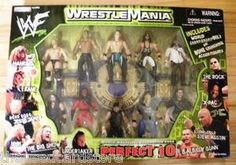 NEW SEALED WWF/WWE Perfect 10 Wrestler Action Figure Set W/Championship Belt (Item Number: 97500) (1999 JAKKS PACFIC)    Figures Include:  Mankind  Kane  Road Dogg Jesse James  HHH  The Big Show  Undertaker  B.A. Billy Gunn  Stone Cold Steve Austin  X-Pac  The Rock   & World Championship Belt