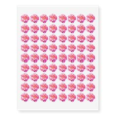"""Single Pink Rose Approx. 1"""" Temporary Tattoos - Tattoos will arrive in a mirrored form to what you see above. When applied, it will be the right side up! Each sheet is: 10.5"""" (height) x 8.25"""" (width).. Prints in full color & non-colored areas are clear. Comes off after a few days or wipe clean with baby oil. To prolong tattoo, avoid chlorinated water. Do not use if you have sensitive skin or if you are allergic to adhesive. Not intended for children 12 and under. - $16.95 per sheet"""