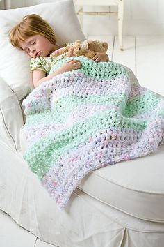 A thick, cozy blanket that stitches up in a flash, this little throw is the perfect project to make and donate to an organization that helps kids in need.