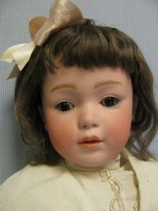 "18"" Antique 7407 Pouty Character Gebruder Heubach Bisque Doll Sleep Eye Dimples"