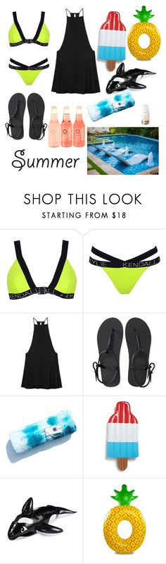 """Untitled #67"" by bacocristina ❤ liked on Polyvore featuring Topshop, RVCA, Aéropostale, Big Mouth, Wembley, O Hui and poolfloats"