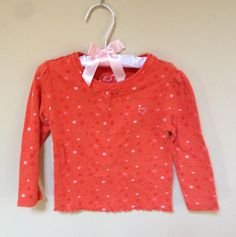 The Children's Place Orange long sleeve Tshirt 24M
