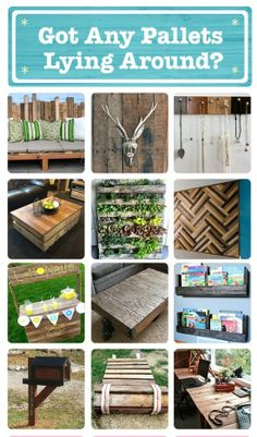 73 ways to reuse old pallets for new projects! Love the herringbone!