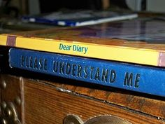 Book spine poetry.