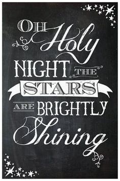 Oh Holy Night Poster by ItsHueILove on Etsy
