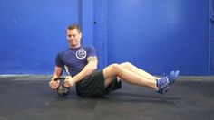 The seated kettlebell trunk twist is an intermediate core conditioning exercise that targets the abs and obliques. Fit Board Workouts, Workout Board, Conditioning Workouts, Squat Workout, Nutrition Shakes, Kettlebell, Squats, Fitness Motivation, Trunks