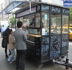 Food carts, a NYC tradition. Try it, you'll like it!