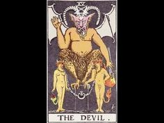 devil tarot card meaning Major Arcana Cards, Tarot Major Arcana, Tarot Card Decks, Tarot Cards, End Times Prophecy, The Hanged Man, Free Tarot, Tarot Learning, Tarot Card Meanings