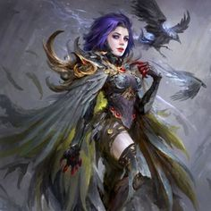 Raven battles the forces of evil alongside her adoptive family, the Teen Titans while trying to control her baser, antagonistic instincts she inherited from her demonic father, Trigon. Chica Fantasy, Fantasy Girl, Character Inspiration, Character Art, Character Design, Dc Characters, Fantasy Characters, Arte Dc Comics, Raven Art