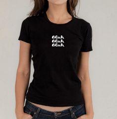 Tee-shirt noir drôle mettant en vedette les simples mots « Bla bla bla » »…