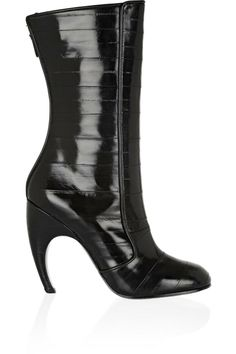 Givenchy eel boots (more curved heels here http://chicityfashion.com/curved-heels/)