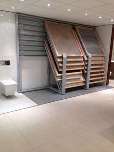 Trade co., ltd provide all kinds of floor tile display rack,flooring rack,w Showroom Interior Design, Tile Showroom, Showroom Ideas, Modern Flooring, Wood Flooring, Flooring Ideas, Ceramic Flooring, Bathroom Showrooms, Buy Tile