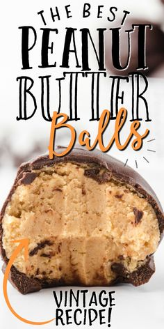 "Rich and buttery, these old-fashioned peanut butter balls are a ""no bake recipe"" straight from grandma's recipe box. Rice Krispie treats are crushed and mixed with smooth peanut butter and powdered sugar to create an irresistible filling before being coated in melted chocolate."