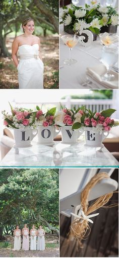 L O V E coffee mugs with flowers