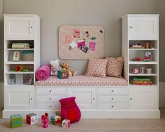Reading Nooks: Create the perfect reading spot out of stock cabinet pieces and shelving units.
