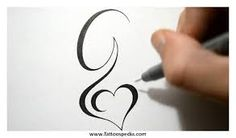 Image result for cursive G tattoo