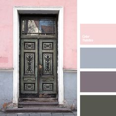 The palette consists mainly of shades of gray: charcoal, slate, stone. Pale pink (royal pink), pink and white bring lightness to this palette. It is a perf.