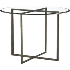 Everitt 42 Round Glass Top Dining Table in Dining Tables | Crate and Barrel