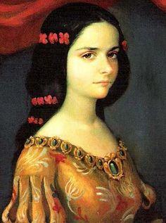 Juana Inés de Asbaje y Ramírez de Santillana.  (buscar enGoogle) La tercera de 6 hijos ilegítimos. A los 8 años su  papá los abandonó, lléndonse a vivir  con una tía a la Ciudad de México.
