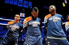 Russell Westbrook, James Harden, Kevin Durant, Oklahoma City Thunder