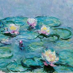 Water Lilies (detail) by Claude Monet More