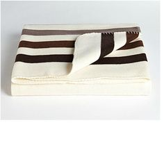 HBC blanket in brown & taupe