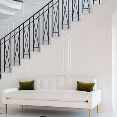 Loving the railing. Windsor Smith Debuts Private Label Furniture Line, Opus Staircase Railing Design, Balcony Railing, Online Stories, Windsor Smith, Entry Foyer, Entrance Hall, Luxury Living, Home Collections, Stairs