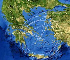 Ancient Greece, Sacred Geometry, Olympia, City Photo, Night, Mathematics, Creative, Artwork, Math
