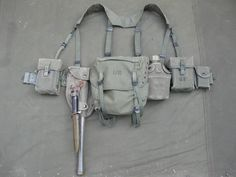 ALICE (US) style belt order webbing circa 1960's. Every zombie hunter should invest in some sort of load carry equipment (if only to carry 24 hours suppy of food water, ammunition, basic first aid kit, fire making kit and basic shelter.