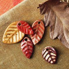 leaf pile charms