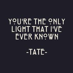 ahs, tate, and american horror story image Evan Peters, American Horror Story Tattoo, American Horror Story Asylum, American Psycho, House Quotes, Me Quotes, Psycho Quotes, Tate Ahs, Tate And Violet