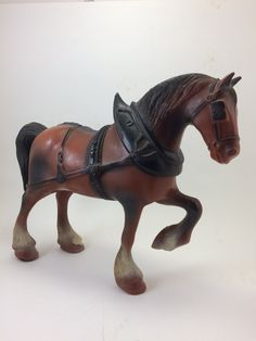Anheuser Busch Clydesdale horse figure beer advertising alcohol budweiser lamp part by TheWabiSabi on Etsy