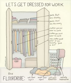 New comic by me on Cosmopolitan about actually getting dressed for work in the morning D: