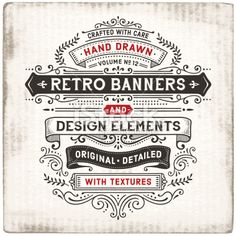 Vintage Banners Hand Drawn Royalty Free Stock Vector Art Illustration
