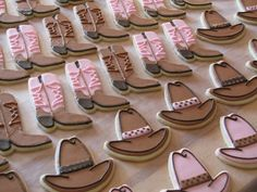 Cowboy Hat & Cowboy Boot Cookies Cowboy hat & boot cookies for a special cowgirl's 9th birthday. NFSC with a delicious...