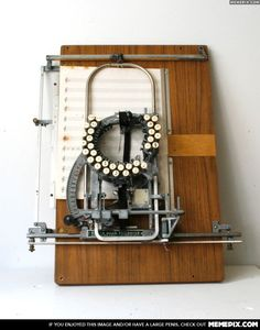 Ever wonder how they used to type up sheet music? The musical typewriter! I'm sure Vince would love this