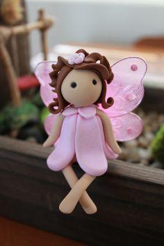 Fairy Polymer Clay Terrarium Accessory Fairy by GnomeWoods