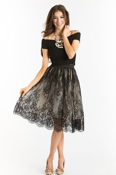 Lace Skirts, Little Black Dress, Romantic Outfits for Women – Morning Lavender