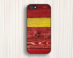 red yellow iphone casered woodiphone 5s caseiphone 5 by Emmajins, $9.99