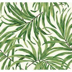"York Wallcoverings Ashford Tropics 27' x 27"" Bali Leaves Wallpaper   AllModern"