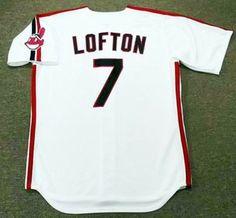 18884e6a512 KENNY LOFTON Cleveland Indians 1993 Majestic Throwback Home Baseball Jersey   Majestic  ClevelandIndians Kenny Lofton