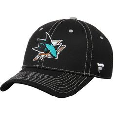 f5857edf5e0 Men s Black San Jose Sharks Amplify Adjustable Hat